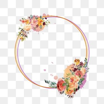 Circle Frame Png Vector Psd And Clipart With Transparent Background For Free Download Pngtree Flower Frame Png Flower Frame Flower Png Images