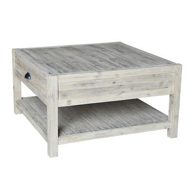 Modern Rustic Square Coffee Table Gray Wash International Concepts Rustic Square Coffee Table Coffee Table Grey Coffee Table Square