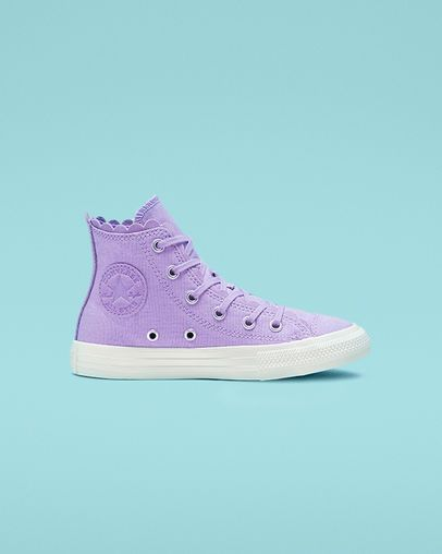 cf5775c72 Chuck Taylor All Star Frilly Thrills High Top Washed Lilac/Washed Lilac
