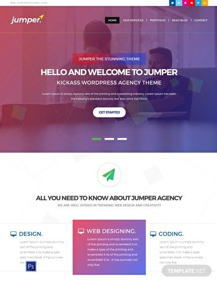 Pin On Design Agency Templates