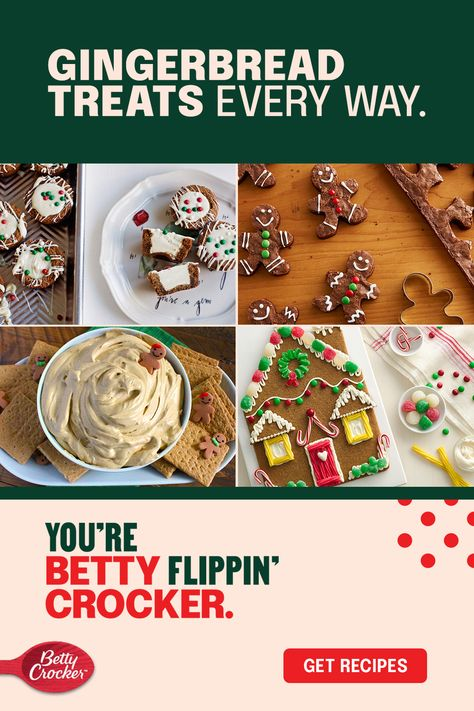 From gingerbread cookies and gingerbread cookie cake to a giant gingerbread house cookie and gingerbread brownie men, these recipes embrace everyone's favorite holiday treat. Perfect your holiday baking with the flavor of the season.
