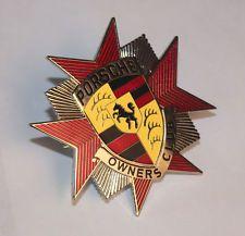POC Porsche Owners Club Badge - Vintage Car Grill Badge / Emblem