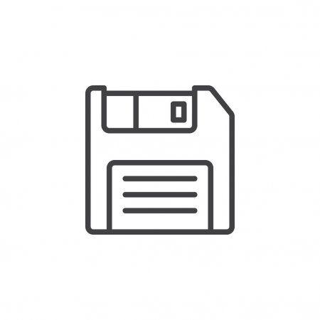 Floppy Disc Line Icon Outline Vector Sign Linear Style Pictogram Stock Aff Icon Outline Line Floppy Ad Floppy Disk Line Icon Logo Illustration
