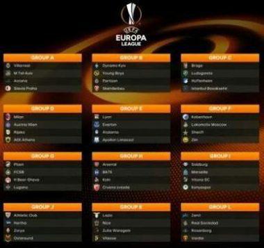 Europa League Fixtures 2018 2019 Europa League League Borussia Dortmund