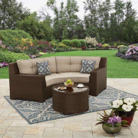 Better Homes And Gardens Weston Pointe Woven 3 Piece Set Better Homes Gardens Outdoor Wicker Modern Patio Furniture