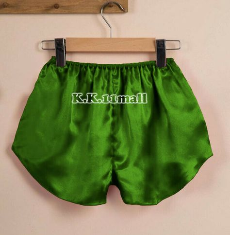 Women Satin Pants Indian Shorts Casual Black Adult Baby Fits With Underwear