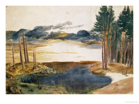 Giclee Print Pond In The Woods Art Print By Albrecht Durer By
