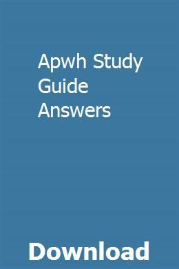 Apwh Study Guide Answers | inovousab | Math study guide