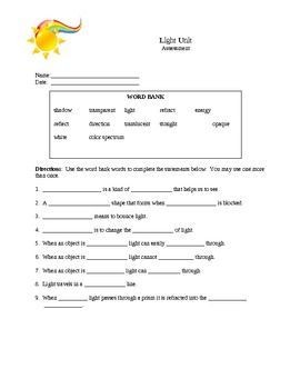 Vast science worksheets pdf information