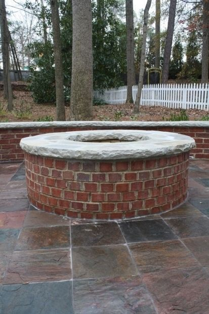 Red Brick Fire Pit Fire Pit Ideas Brick Fire Pit Backyard
