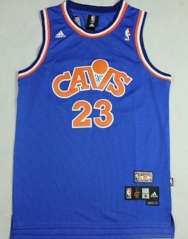 new arrival 2127d 24745 Men CAVS 23 Lebron James Jersey Blue Cleveland Cavaliers ...