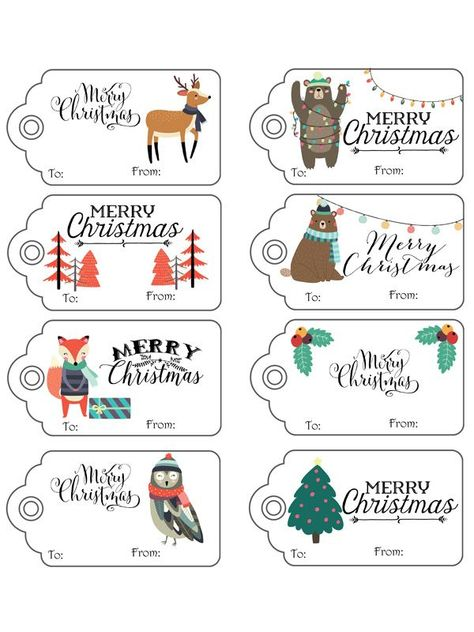 #printable #christmas #adorable #woodland #over #free #gift #tags #life #csOver 35 Free Printable Christmas Gift Tags Adorable Woodland Christmas Gift Tags / Life Over CsAdorable Woodland Christmas Gift Tags / Life Over Cs