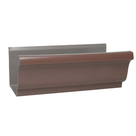 Amerimax Home Products 10 Ft Aluminum Gutter 2400619120 Home Depot Lowes Home Improvements 10 Things