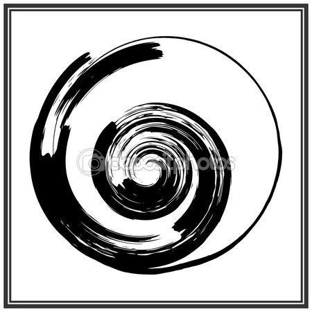 Logo de círculo de Grunge — Ilustración de stock #114917216