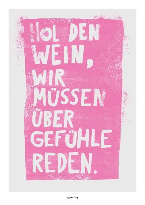 Poster mit Spruch // love quote poster print via DaWanda.com