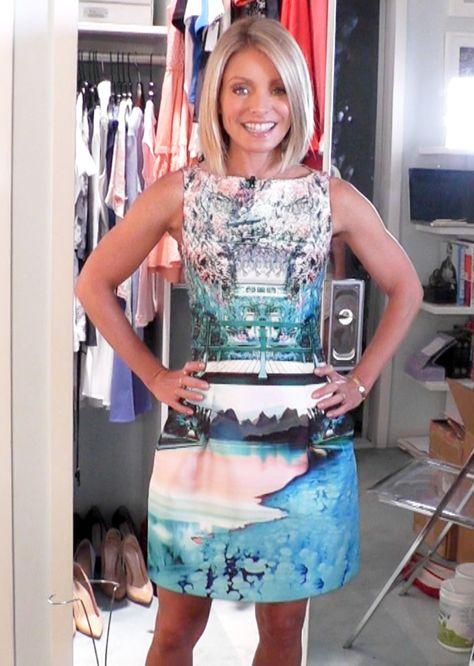 Today Kelly Ripa looked stunning in a dress by Mary Katrantzou. #Fashion #FashionFinder #Dress #MaryKatrantzou #KellyRipa 6-11-14