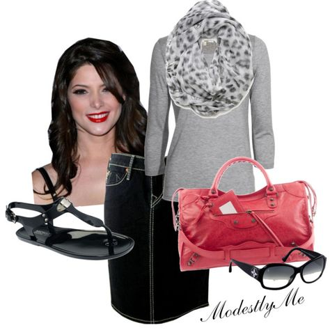 """Black + Red"" by modestlyme on Polyvore"