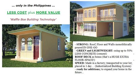 Waffle Box Building Technology Philippines Small House Design Philippines Box Building Mediterranean House Designs