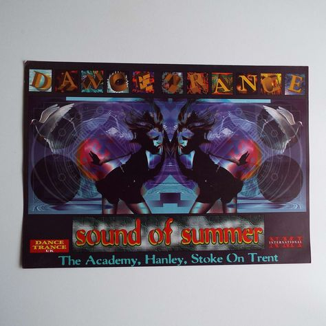 Vintage 1993 Dance Trance Sound of Summer Stoke On Trent Rave | Etsy