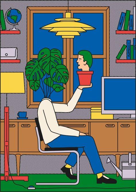 Albert Tercero — Girl was here Abstract Illustration, Graphic Illustration, Psychedelic Art, Art Sketches, Art Drawings, Illustrator, Hippie Art, Arte Pop, Grafik Design