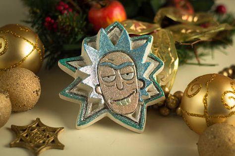 Rick And Morty Christmas Ornaments.Rick Sanchez Plaster Christmas Ornament Rick And Morty
