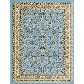 Unique Loom Washington Sialk Hill Light Blue Indoor Nature Area Rug Common 9 X 12 Actual 9 Ft W X 12 Ft L With Images Vintage Area Rugs Oriental Area Rugs Unique Loom