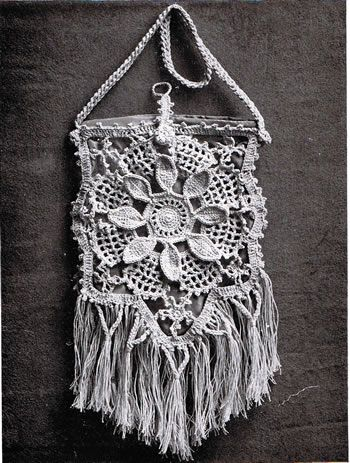 Beautiful Bag Irish Crochet Pattern Found On Httpwww