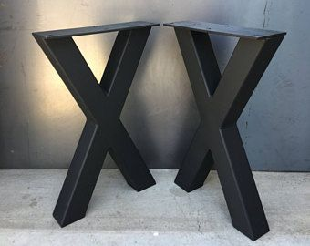 Jambe De Forme En Acier 3 X 3 X Lot De 2 Pied De Table Metal Pied De Table Industrielle X Jambe De Banc De Forme X Jamb Metaal Industrial Niet Beschikbaar