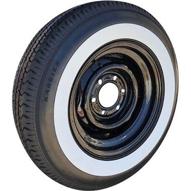 White Wall Trailer Tire On 15 Trailer Wheel 15x6 6 Bolt On 5 5 Trailer Tires Tire Wheel