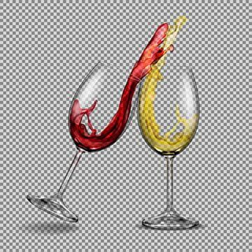 Set Vector Transparent Glasses With White And Red Wine With A Sp Wine Glass Isolated Png And Vector With Transparent Background For Free Download Pintura De Vinho Vinho Branco Manchas De
