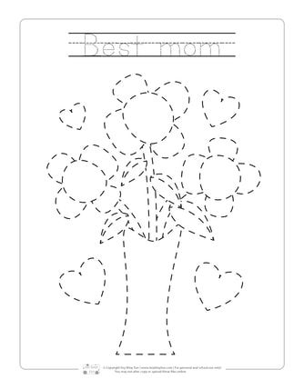 Mother S Day Tracing Worksheets Mothers Day Book Kids Crafts