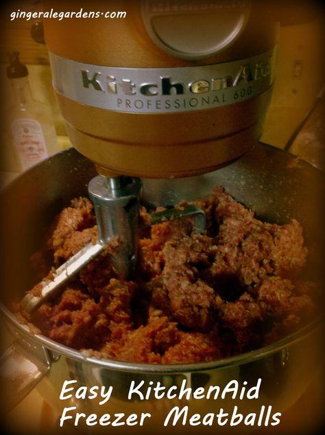 Freezer Meatballs with a KitchenAid Mixer