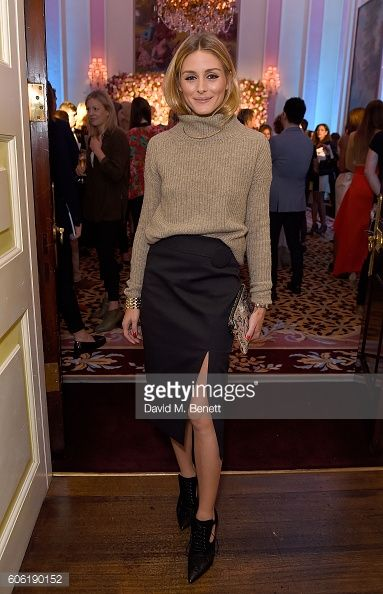 Olivia Palermo attends the launch of new luxury womenswear label Maison Makarem during London Fashion Week Spring/Summer collections 2017 on...