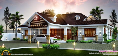Awesome Single Storied Home Kerala Design And Floor Plans Modern