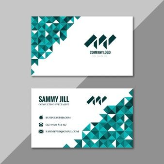 Businesswoman Horizontal Double Sided Business Card Template Business Cards Vector Templates Free Vector Business Cards Double Sided Business Cards