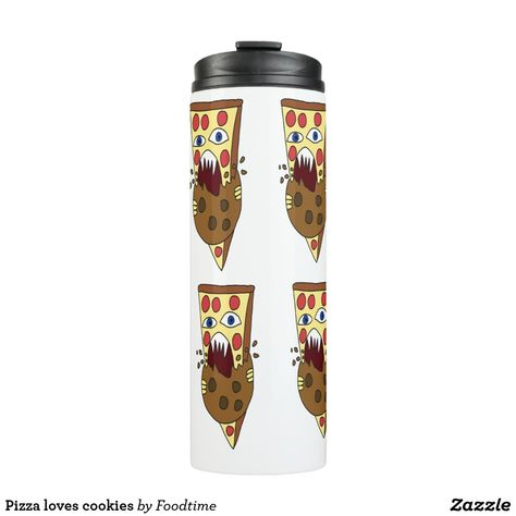 Pizza loves cookies thermal tumbler