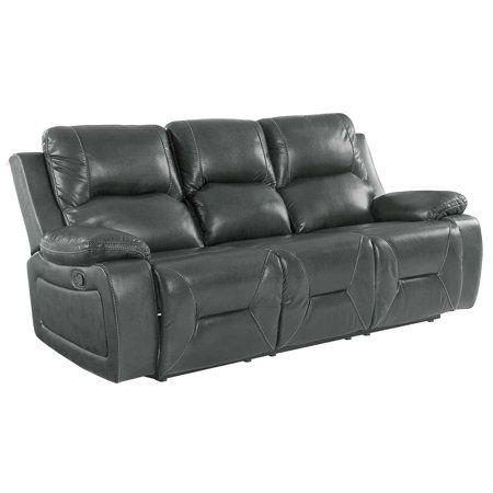 Home Grey Leather Sofa Reclining Sofa Sofa