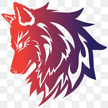 Red Wolf Logo For Game Team Animal Clipart E Sport Brand Png And Vector With Transparent Background For Free Download Red Wolf Animal Clipart Wolf