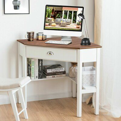 Gracie Oaks Corner Desk Wayfair In 2020 Small Corner Desk Corner Desk Corner Computer Desk