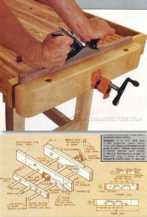 Diy Bench Vise Workshop Solutions Projects Tips And