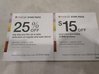 $15 Off $50 Macys Star Pass Coupon