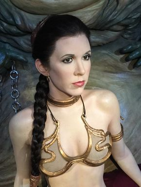 From the Star Wars Exhibit at Madame Tussauds London--Princess Leia
