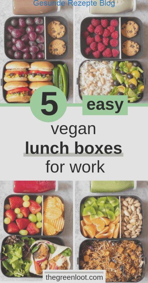 5 Einfache Vegane Lunchbox Ideen Fur Die Arbeit Adult Bento