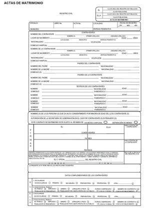 Pin De Joshua Xnthrax En Acta De Matrimonio Acta De Matrimonio Matrimonio Certificado De Matrimonio