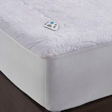 Serta Perfect Sleeper Sherpa Plush Heated Mattress Pad Heated