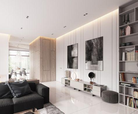 Déco Blanc Et Bois Clair D Un Appartement Design D