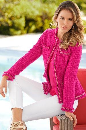 Boston Proper Parisian jacket - Love this boucle wool Chanel style!
