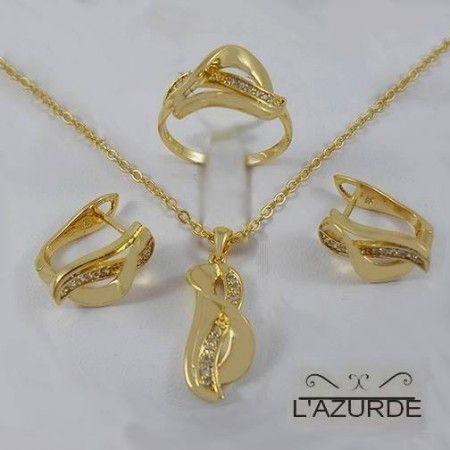 كولكشن ذهب لازوردي سيدات مصر Gold Jewelry Necklace