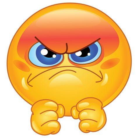 Emoticono cara de enojo: Demuestran enfado. Rara vez se usan irónicamente.