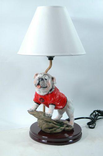Georgia Bulldogs Painted Mascot Lamp Uga Ebay Bulldogpainting